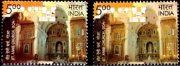 RELIGION- CHRISTIANITY- St ANNE CHURCH -ERROR/ VARIETY- INDIA-2009-  MNH- SB-7 - Varietà & Curiosità