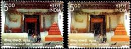 RELIGION- BUDDHISM- MONGYU MOASTRY, LADAKH -ERROR/ VARIETY- INDIA-2009-  MNH- SB-7 - Varietà & Curiosità