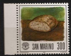 Saint-Marin 1981 N° 1039 ** FAO, Alimentation, Tableau, Famine, Pain, Farine, Bruno Caruso, Planche à Découper, Bois - Nuovi