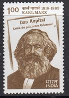 India 1983 Karl Marx Death Centenary, MNH, SG 1084 (D) - Nuovi