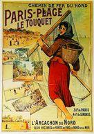 LE TOUQUET PARIS-PLAGE - Edition Clouet - CARTE POSTALE MODERNE (Reproduction D'affiche Ancienne Tauzin) - Posters