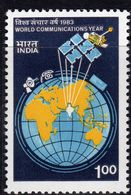 India 1983 World Communications Year, MNH, SG 1087 (D) - Nuovi
