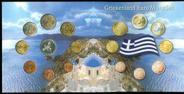 SERIE EURO DIVISIONALE IN FOLDER COFFRET GRECIA GRIECHENLAND GRIEKENLAND GRECE GREECE 2004 KMS FDC UNC - Grèce