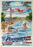 LE TOUQUET PARIS-PLAGE - Edition Artaud - CARTE POSTALE MODERNE (Reproduction D'affiche Ancienne) - Posters