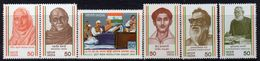 India 1983 Struggle For Freedom I Set Of 6, MNH, SG 1089/94 (D) - Nuovi