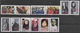 2010 FRANCE Adhesif 417-28 Oblitérés, Femmes, Série Complète - KlebeBriefmarken