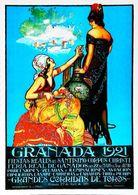 """GRANADA 1921 -  Verso Blanc   - CARTE POSTALE MODERNE (Reproduction D'affiche Ancienne)d'après """" Capazo"""" - Posters"""