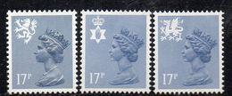 APR326 - GRAN BRETAGNA 1984, Unificato Ordinaria Regionali 17 P. N. 1154/1156 ***  MNH (2380A) - 1952-.... (Elizabeth II)