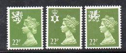 APR380 - GRAN BRETAGNA 1984, Unificato Ordinaria Regionali 22 P. N. 1157/1159 ***  MNH (2380A) - 1952-.... (Elizabeth II)