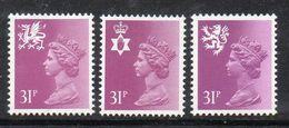APR391 - GRAN BRETAGNA 1984, Unificato Ordinaria Regionali 31 P. N. 1160/1162 ***  MNH (2380A) - 1952-.... (Elizabeth II)