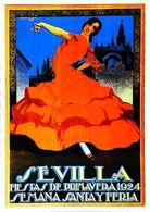 """SEVILLA 1924  - Verso  Vierge - CARTE POSTALE MODERNE (Reproduction D'affiche Ancienne) D'après """"HOHENLEITER DE CASTRO"""" - Posters"""