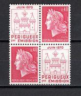 FRANCE  N° 1643 EN PAIRE   NEUF SANS CHARNIERE  COTE 0.80€   MARIANNE DE CHEFFER - 1967-70 Maríanne De Cheffer