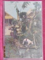 CPA - Tonkin - Nam Dinh - La Vie Aux Champs - Porteuse D'eau - Vietnam