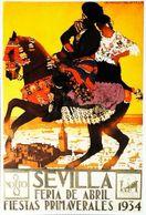 """SEVILLA 1934 -  Verso  Vierge - CARTE POSTALE MODERNE (Reproduction D'affiche Ancienne)d'après """"HOHENLEITER DE CASTRO"""" - Posters"""
