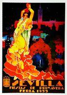 """SEVILLA 1933 - Verso Blanc Vierge - CARTE POSTALE MODERNE (Reproduction D'affiche Ancie D'après """" Enrique Estela Anton"""" - Posters"""