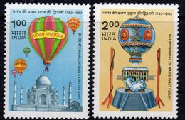 India 1983 Bicentenary Of Manned Flight Set Of 2, MNH, SG 1104/5 (D) - Nuovi