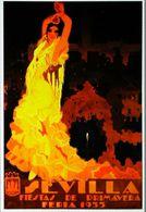 """SEVILLA 1933 - Edition Recarse - CARTE POSTALE MODERNE (Reproduction D'affiche Ancienne)d'après """" Enrique Estela Anton"""" - Posters"""