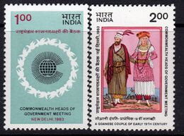 India 1983 Commonwealth Heads Of Government Meeting Set Of 2, MNH, SG 1107/8 (D) - Nuovi