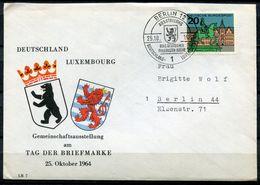 """Germany 1964 Sonderbeleg Tag Der Briefmarke Mit Mi.Nr.423 Und SST""""Berlin 12-Ausstellung Deutschl.-Luxemburg""""1 Beleg - Luxembourg"""