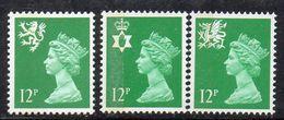APR405 - GRAN BRETAGNA 1986, Unificato Regionali Serie. N. 1207/1209 ***  MNH (2380A) - 1952-.... (Elizabeth II)