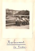 Foto Photo ( 7 X 8 Cm) Herbeumont Le Viaduc 1950 - Herbeumont