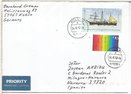 ANTARTIDA ALEMANIA CC CON SELLO BUQUE GAUSS ANTARCTIC - Polar Ships & Icebreakers