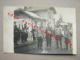 Slovenia / Bohinjska Bistrica - Skiers, Train Station ... Real Photo ( 1951 ) - Slovénie