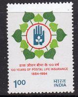 India 1984 Centenary Of Postal Life Insurance, MNH, SG 1113 (D) - Nuovi