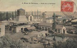 CPA (81) CARMAUX Mines Puits De La Grillatié Houillères Charbon Métier Mining (2 Scans) - Carmaux