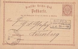 DR Ganzsache R3 Saalfeld I. Sachs. Meinig. Hildb. 4.6.74 - Deutschland