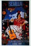"""SEVILLA 1919 - Edition Sevilliama - CARTE POSTALE MODERNE (Reproduction D'affiche Anciend'après""""Vincente Barreira Polo"""" - Posters"""