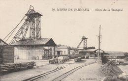 CPA (81) CARMAUX Mines Siège De La Tronquié Houillères Charbon Métier Mining (2 Scans) - Carmaux