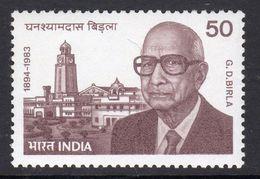 India 1984 G.D. Birla 90th Bith Anniversary, MNH, SG 1126 (D) - Nuovi