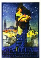 "SEVILLA 1925 Eventail - Edition Sevilliama  - CARTE POSTALE MODERNE (Reproduction D'affiche Ancied'après ""Desde Triana"" - Posters"