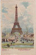 """F0232 PARIS - EXPOSITION UNIVERSELLE DE 1900 - CHROMO - LA TOUR EIFFEL - """"METEOR"""" - DOS NON DIVISÉ - Mostre"""