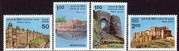 India 1984 Forts Set Of 4, MNH, SG 1131/4 (D) - Nuovi