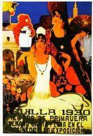 """SEVILLA 1930 - Edition Sevilliama  - CARTE POSTALE MODERNE (Reproduction D'affiche Anciennd'après """"Balcera De Fuentes """" - Posters"""