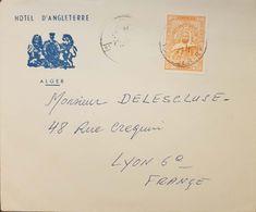 Algeria Hotel D'Angleterre Cover To France - Algeria (1962-...)