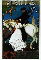 """SEVILLA 1921 - Edition Sevilliama - CARTE POSTALE MODERNE (Reproduction D'affiche Anciennd'après """" José Morell Macias """" - Posters"""