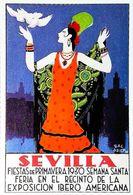 """SEVILLA 1930 - Edition Sevilliama - CARTE POSTALE MODERNE (Reproduction D'affiche Ancienne D'après """" Martinez Baldrich"""" - Posters"""