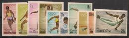Burundi - 1964 - N°Mi. 125B à 134B - Tokyo / Olympics - Non Dentelé / Imperf. - Neuf Luxe ** / MNH / Postfrisch - 1962-69: Neufs