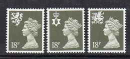 APR563 - GRAN BRETAGNA 1987, Unificato Regionali N. 1253/1255 ***  MNH (2380A) - 1952-.... (Elizabeth II)