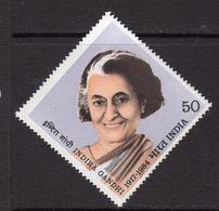 India 1984 Indira Gamdhi Commemoration, MNH, SG 1138 (D) - Nuovi