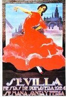 """SEVILLA 1924    CARTE POSTALE MODERNE (Reproduction D'affiche Ancienne)d'après """"HOHENLEITER DE CASTRO"""" - Posters"""