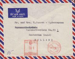 India Air Mail CALCUTTA B&C (P) Ltd. C(62) 1959 Meter Cover AMSTERDAM (Zuid) Holland (2 Scans) - 1950-59 Repubblica