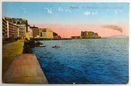 C. P. A. : NAPOLI : Via Partenope E Castello Dell'Uovo - Napoli