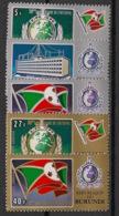 Burundi - 1973 - N°Mi. 926 à 930 - Interpol - Neuf Luxe ** / MNH / Postfrisch - 1970-79: Neufs