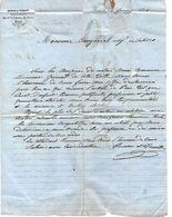 Grille  PARIS Sur Timbre Cérès Roman & Vernet Paris Commissionnaires NEGOCE COMMERCE  Pour Cangardel à Cahors - 1800 – 1899