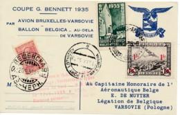 Ballon Belgica – Coupe Bennet 1935 – Vol Warchau – Verschenskaïa 17.09.35 – Pologne Russie, Don - 1917-1923 Republik & Sowjetunion