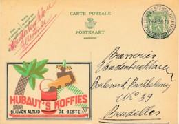 1938 Publibel 289C - Café Hubaut's, Le Meilleur, Sac Avec Café - Palmier - Luxe - Werbepostkarten